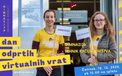 Dan odprtih virtualnih vrat Gimnazije Ilirska Bistrica