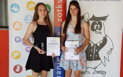 Srebrno priznanje za raziskovalno nalogo na 55. srečanju mladih raziskovalcev Slovenije
